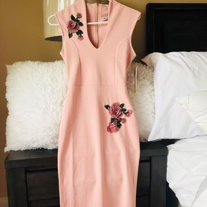🌸Soft Pink Floral Embroidered Dress🌸 NWT✨